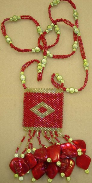 Beg. Tubular Peyote Amulet Bag