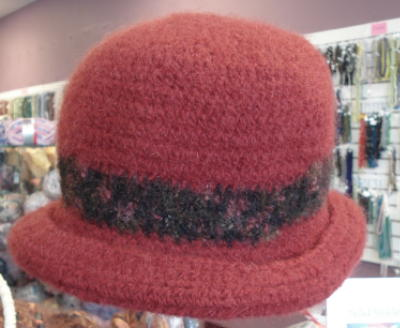 Crocheted Felted Hat