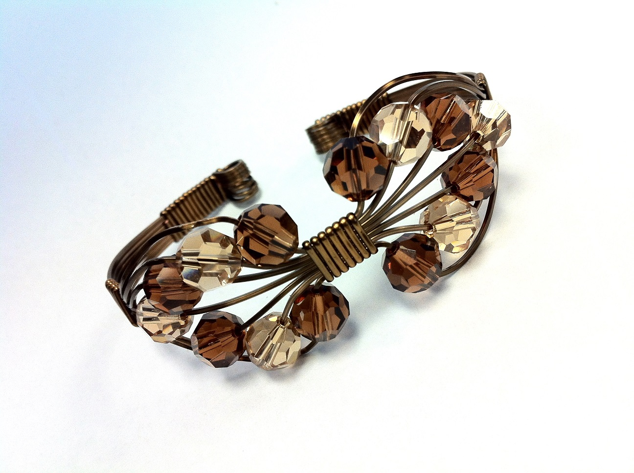 Crystal Leaf Cuff